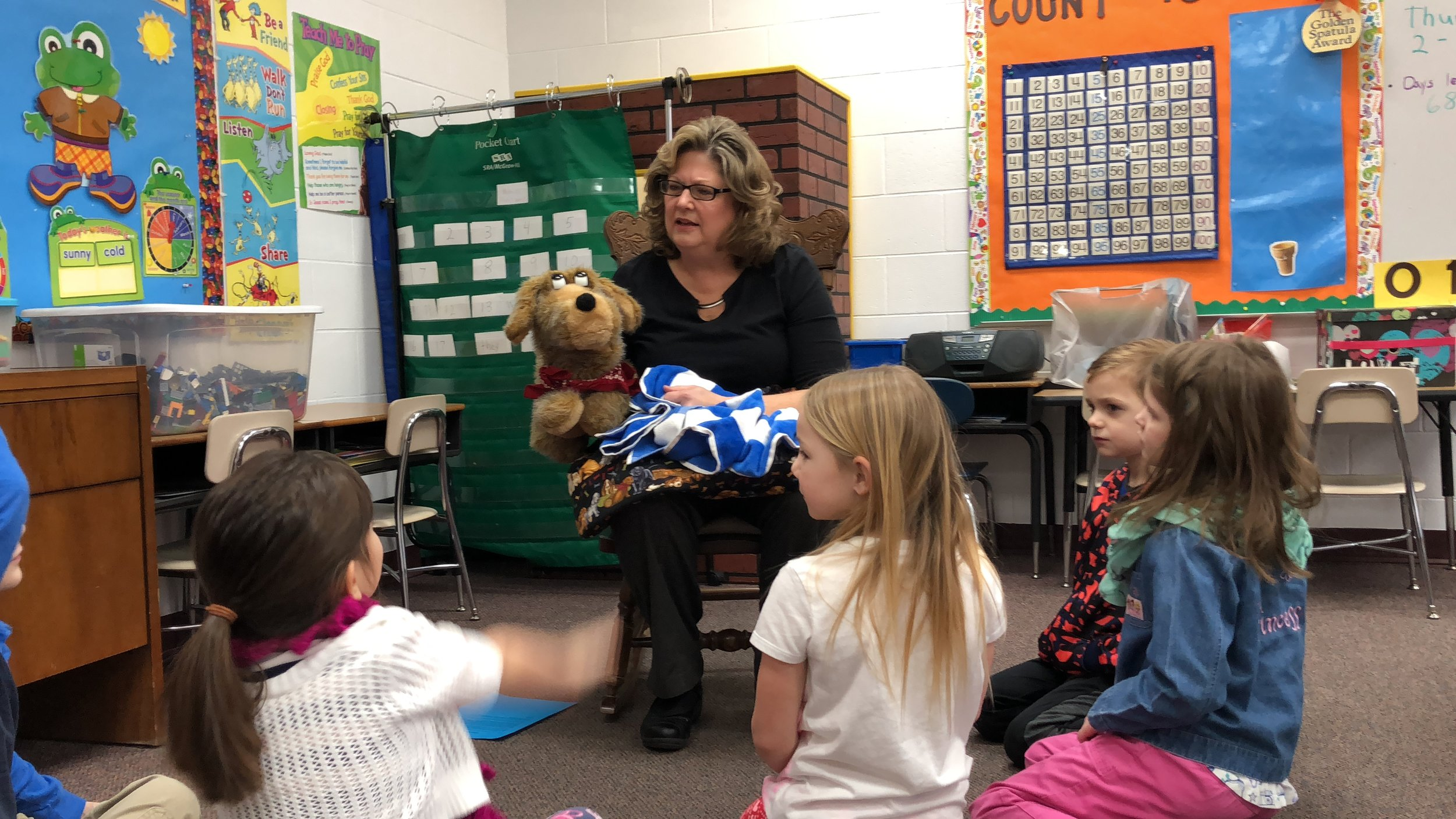 "Mrs. Roth uses ""Scruffy the Dog"" to teach big spiritual truths to young children."