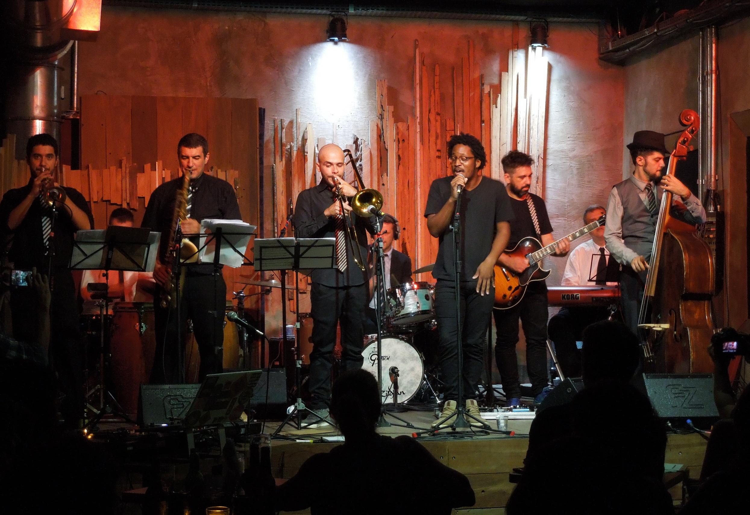 Radio Stevie with Superjazz Collective at Jazz Nos Fundos, a trendy jazz bar in São Paulo, Brazil.