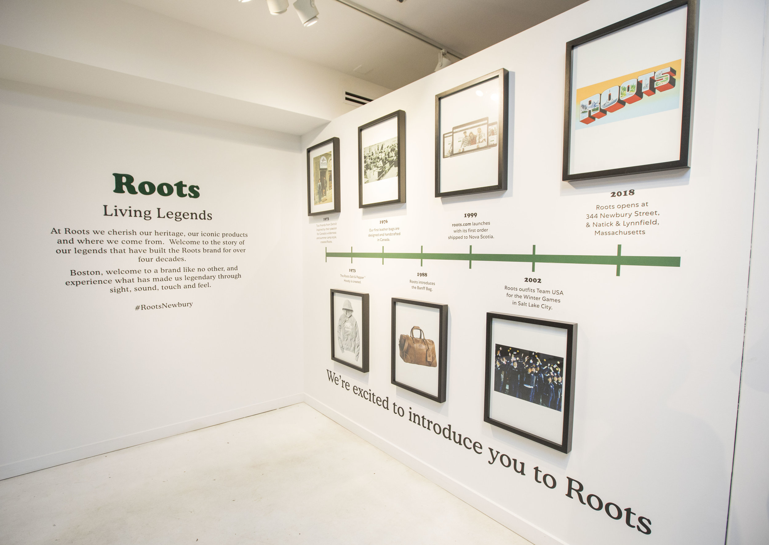 Roots brand history and timeline, at Roots Legends on Newbury.