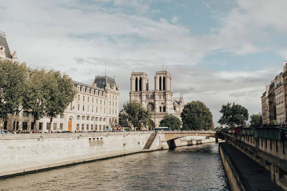 notre dame from the seine, photography credit - arlene leilani photography