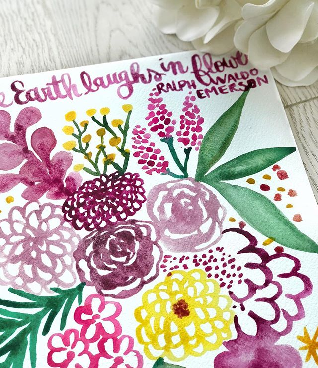 """The Earth laughs in flowers""- Ralph Waldo Emerson"