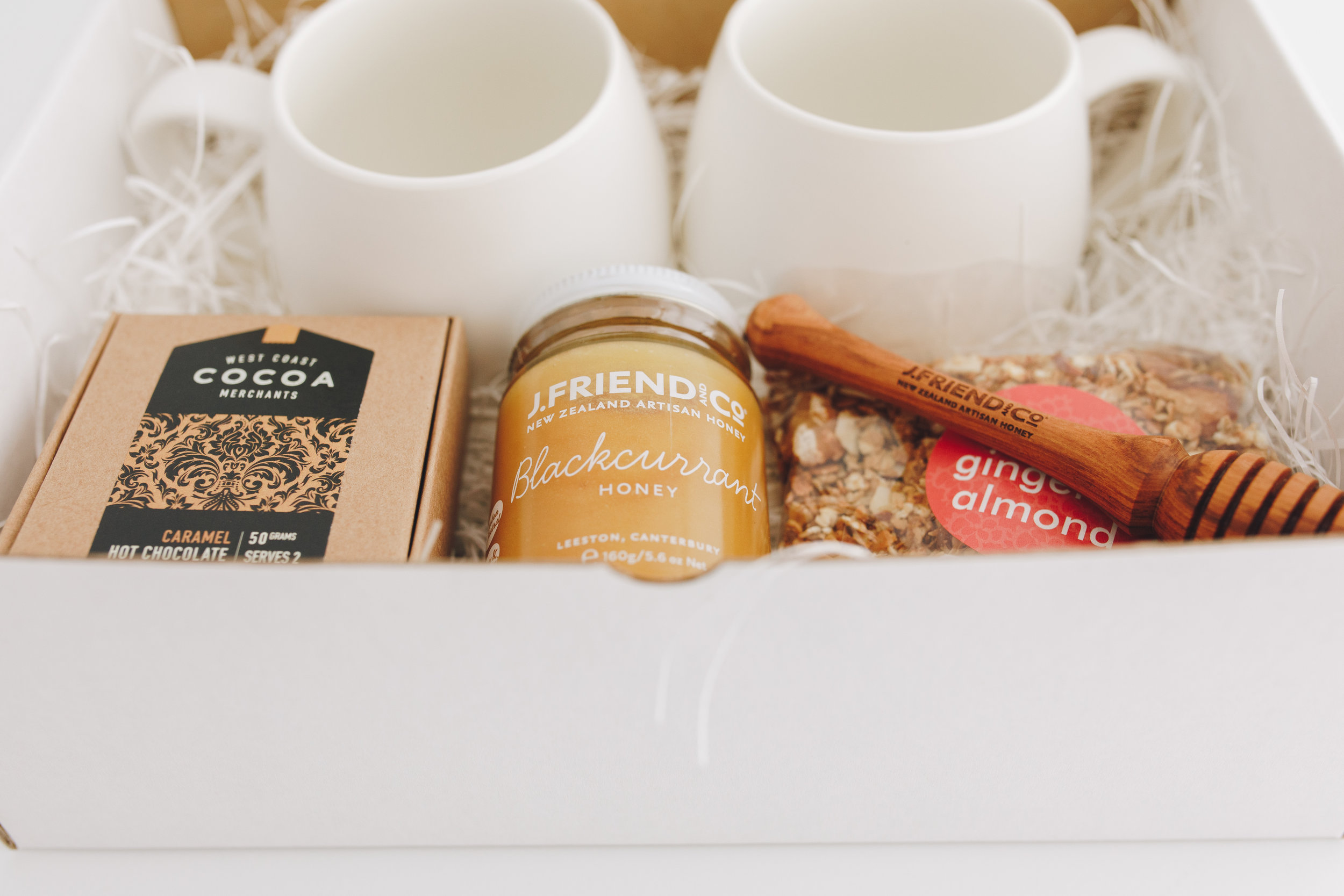 breakfast in bed gift box with deluxe hot chocolate