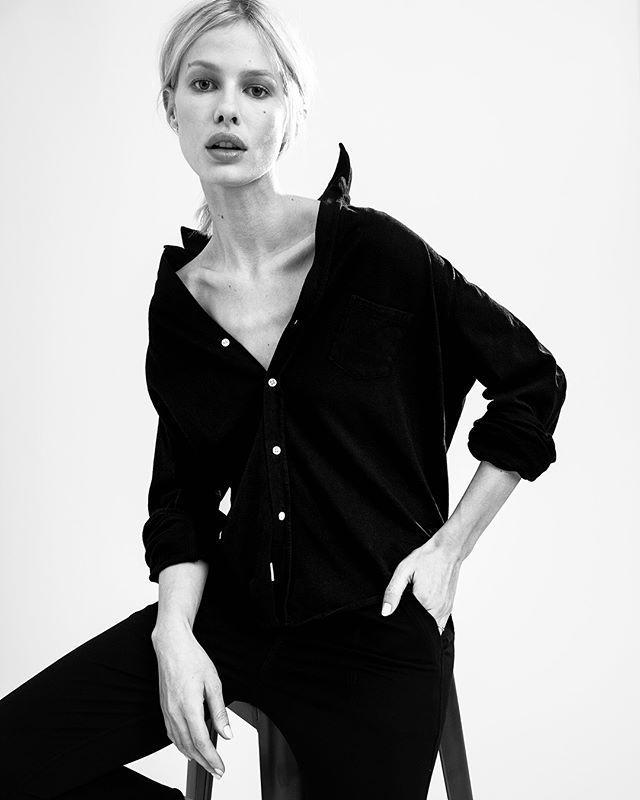 New work for @frankandeileen @jeninem w/ the beautiful @sydneyroper @photogenicsla • MU/Hair @s0ftglam