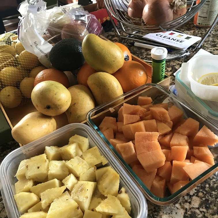 Meal prep is super important for a smooth week. Fortunately, when you're focused on only eating whole foods, it's really pretty simple! Even just having cut fruit and veggies is helpful. -
