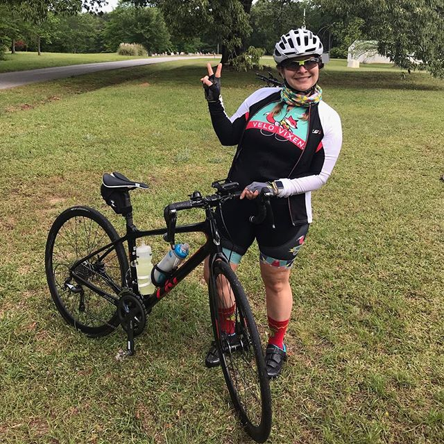 BRAG Spring Tune Up Day 1 ride complete.  I took the 28 mile route today so I can take the paddle board out this afternoon.  Gearing up for 60 miles tomorrow and 44 on Sunday!  @brageorgia #ridebikes #ridelikeagirl #lifebehindbars #campout #bikeandcamp @velovixens