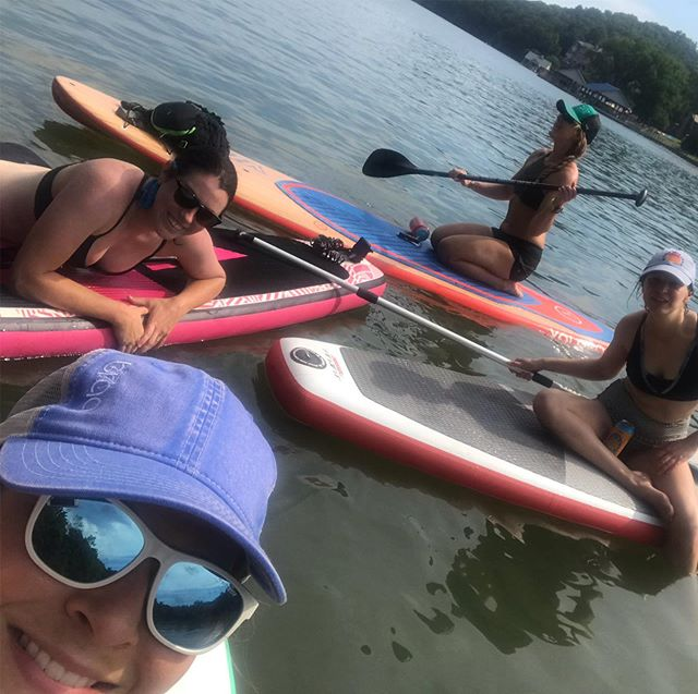Today was a good day.  Thank you to all who have served!  Happy Memorial Day! #memorialdayweekend #lakeday #paddleboard #velovixens @velovixens @ditchflower @kat_the_bike_lady @blades91