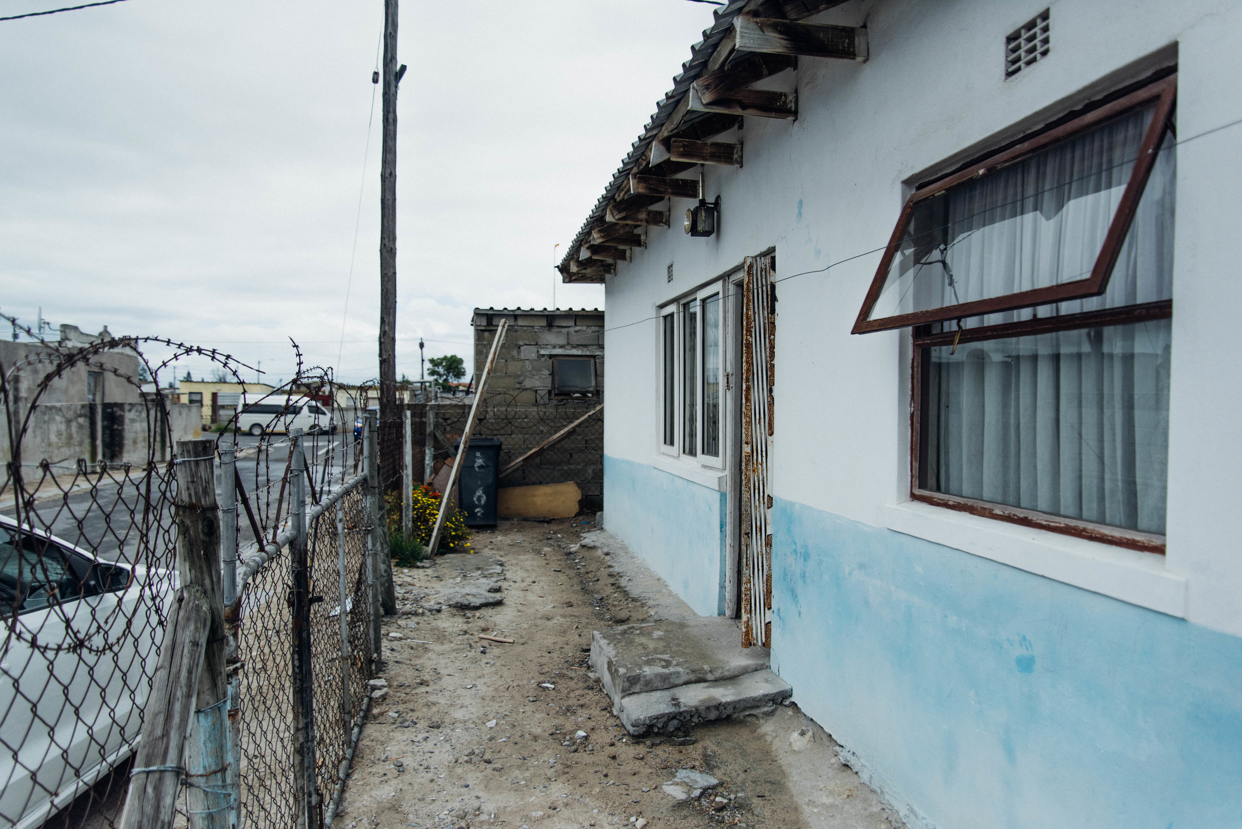 In Philippi East outside Vumazonke's home, which is attached to a church.