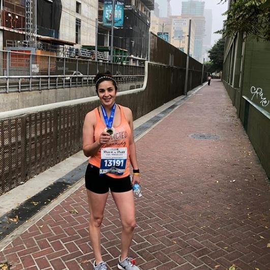 Fabiola at the LA Half Marathon.