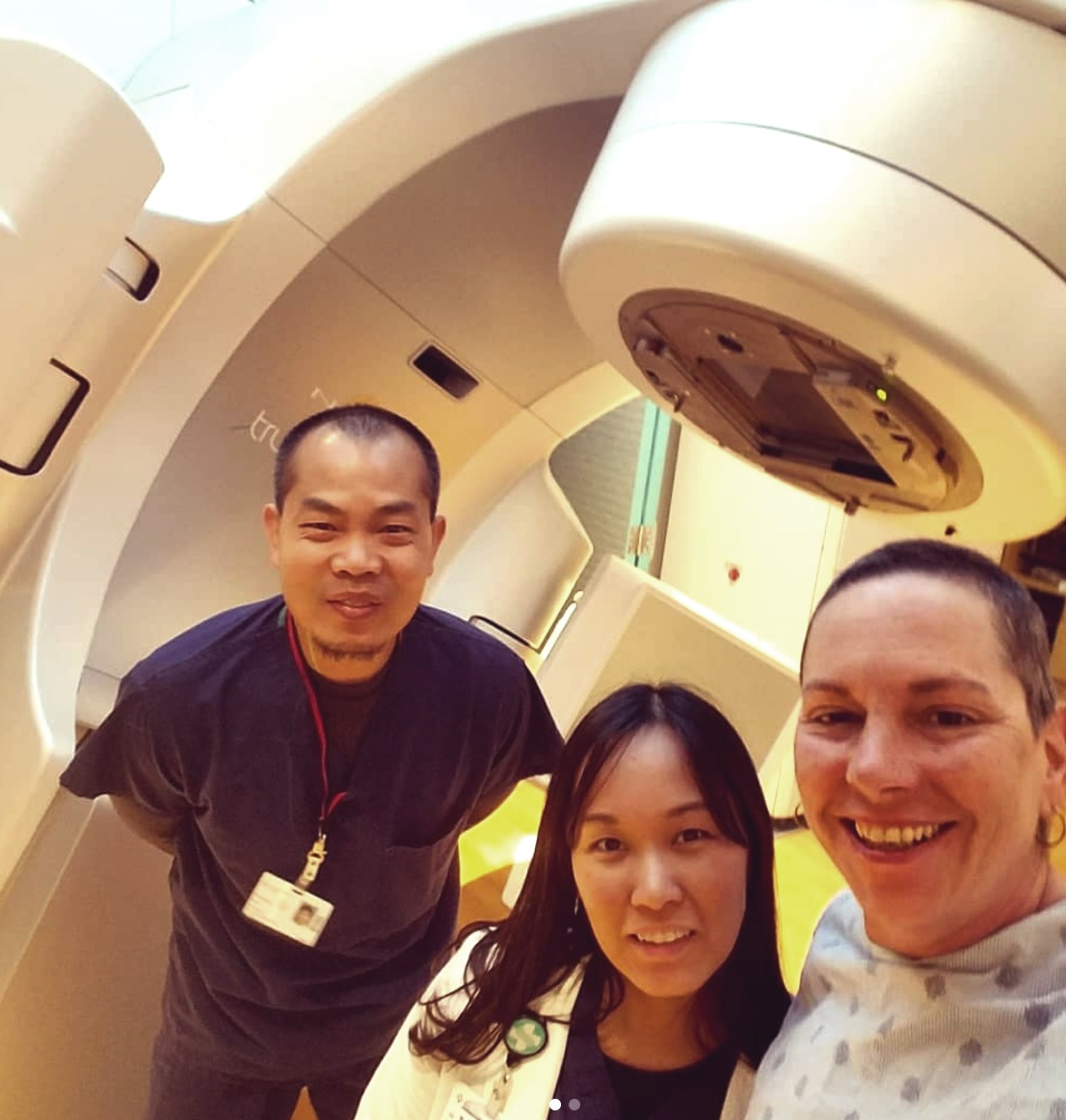 Doreen with her radiation team.