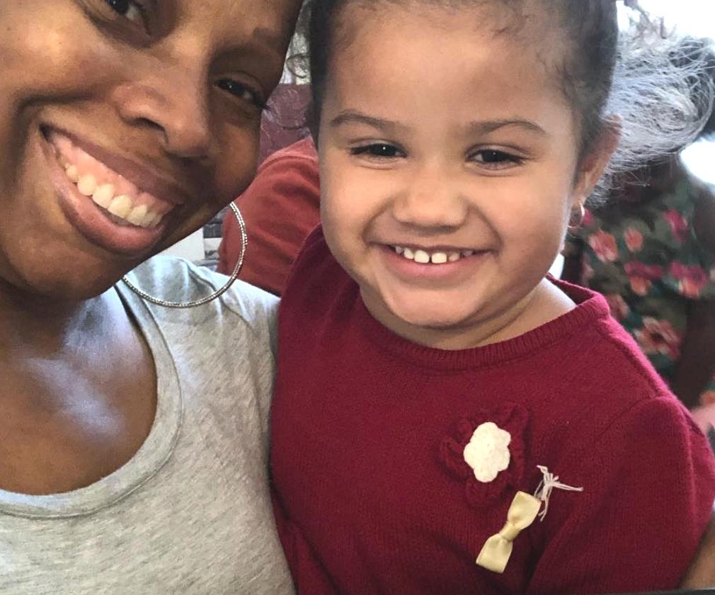 Maurissa with her niece.