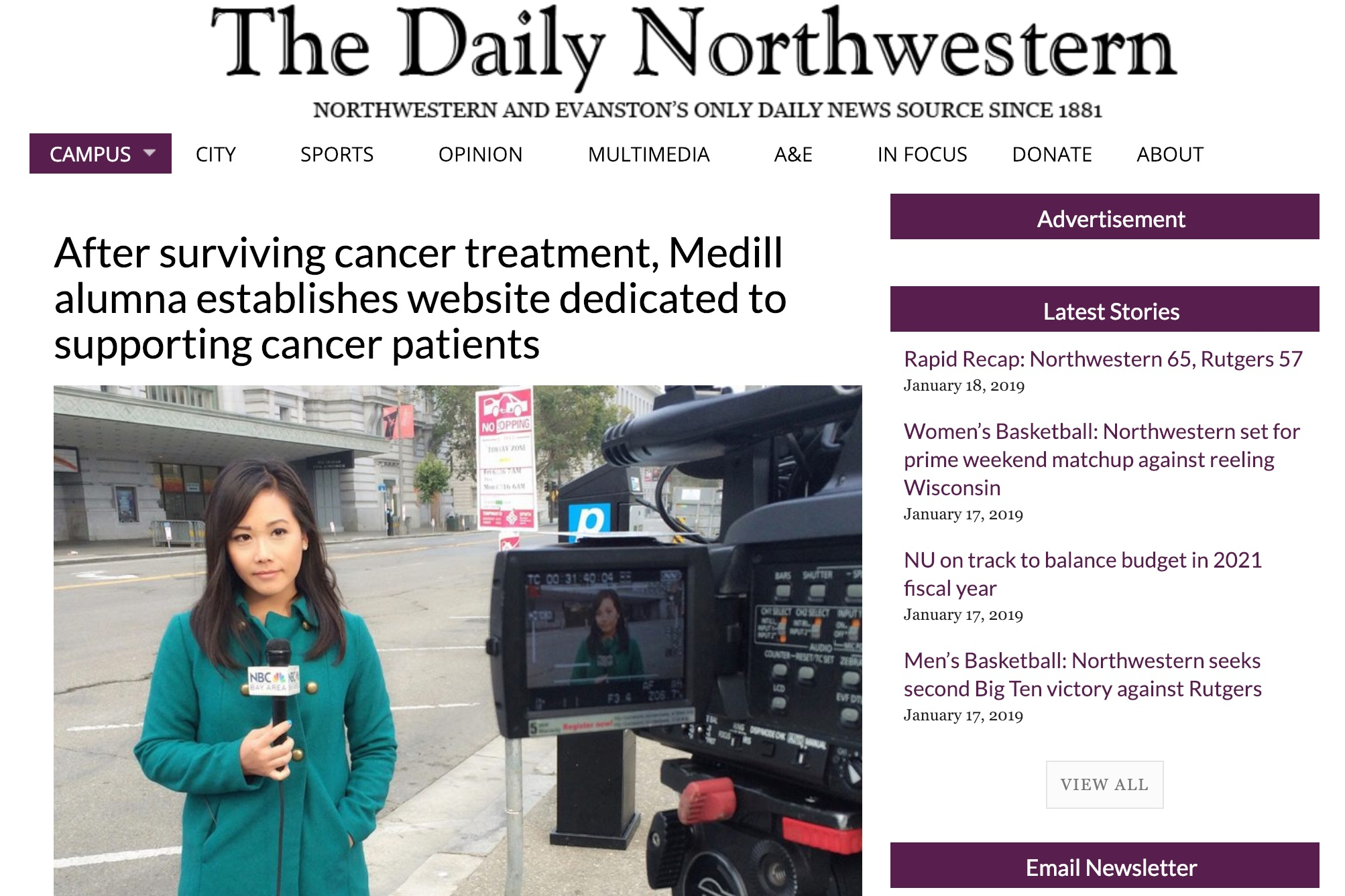 The Daily Northwestern - January 17, 2019The Daily NU reporter covers the genesis and the work of The Patient Story.
