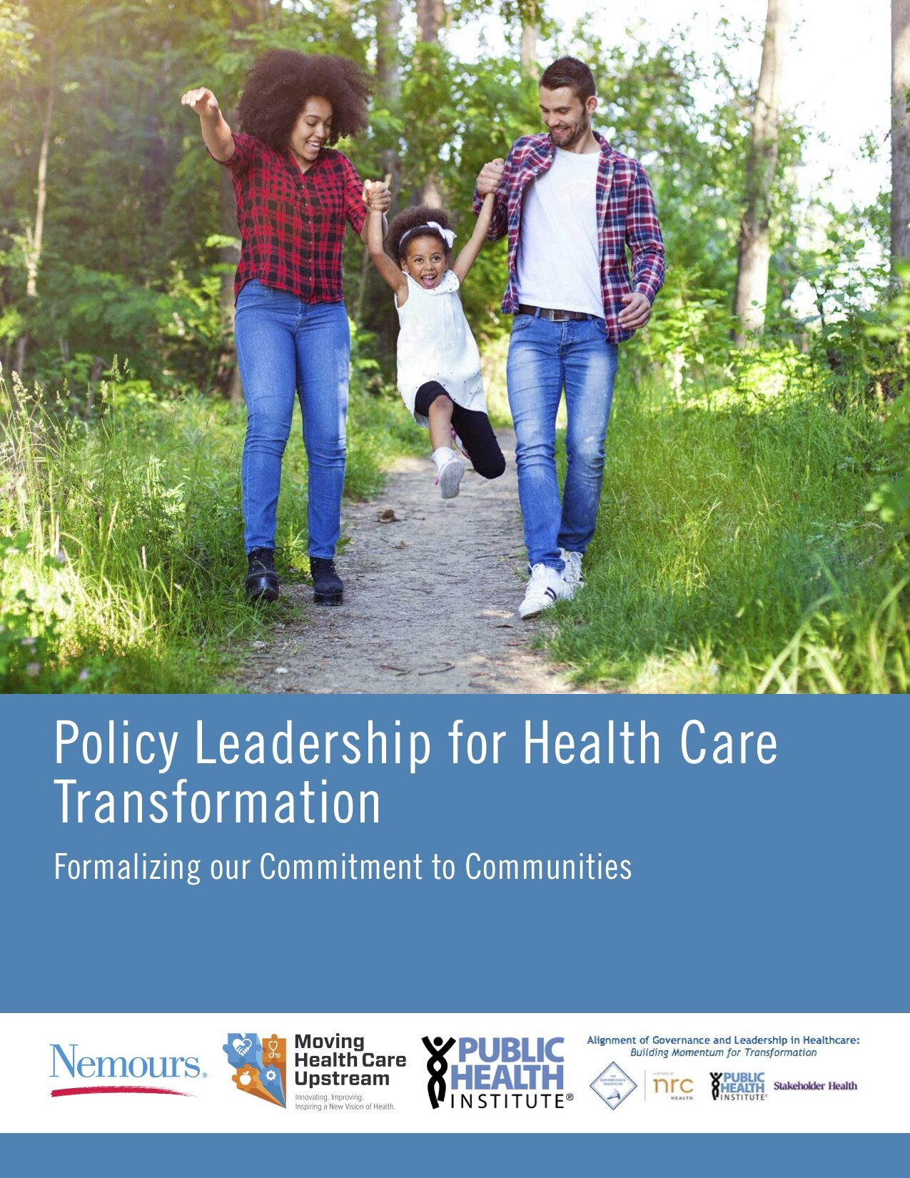 - Looking for our report: Policy Leadership for Health Care Transformation?Through this project, Public Health Institute and Nemours (on behalf of the Moving Healthcare Upstream Initiative) engaged 18 hospital and health systems seen as leaders in the upstream movement, specific to health care & community partnership that address social determinants of health. Examples from these leaders were synthesized into an organizing framework consisting of two major categories, or Foundational Pillars: internally-focused Institutional Policy Strategies and externally-focused Civic Engagement Strategies, each with sub-categories.The framework (which is fleshed out with detailed examples as well as sample documents shared by participating hospitals and health systems) is designed to serve as an actionable roadmap for hospitals and health systems in earlier stages of their own upstream journeys. Be sure to check out the executive summary and full report.Contact CACHE@phi.org for questions or more information.