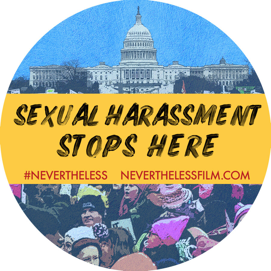 "Sticker #1 - ""Sexual Harassment Stops Here"""