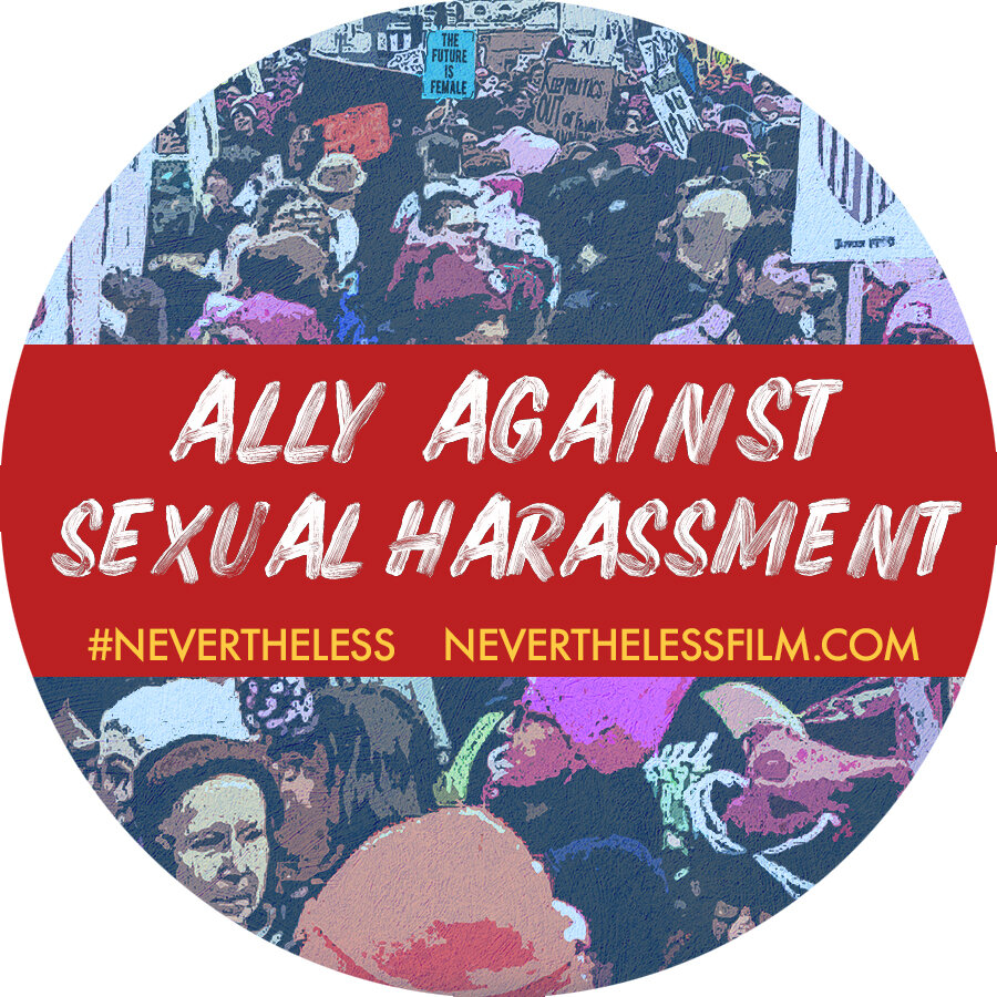 "Sticker #2 - ""Ally Against Sexual Harassment"""