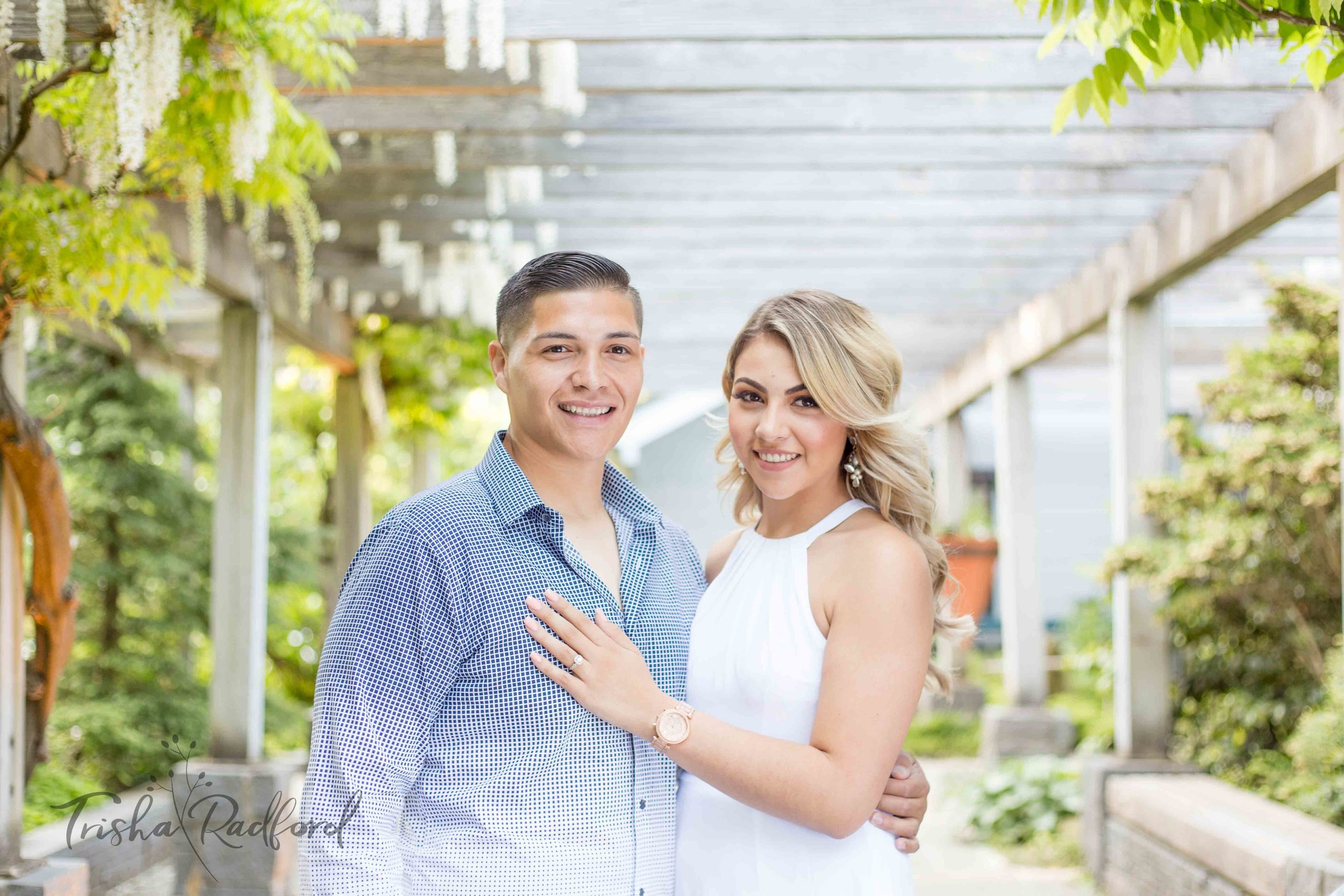 Engagement photoshoot at Washington Park Arboretum