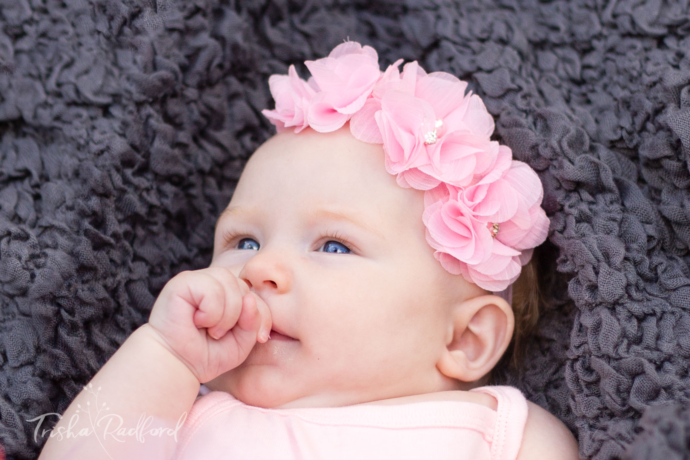 Photo of cute baby girl - Snohomish county baby photographer