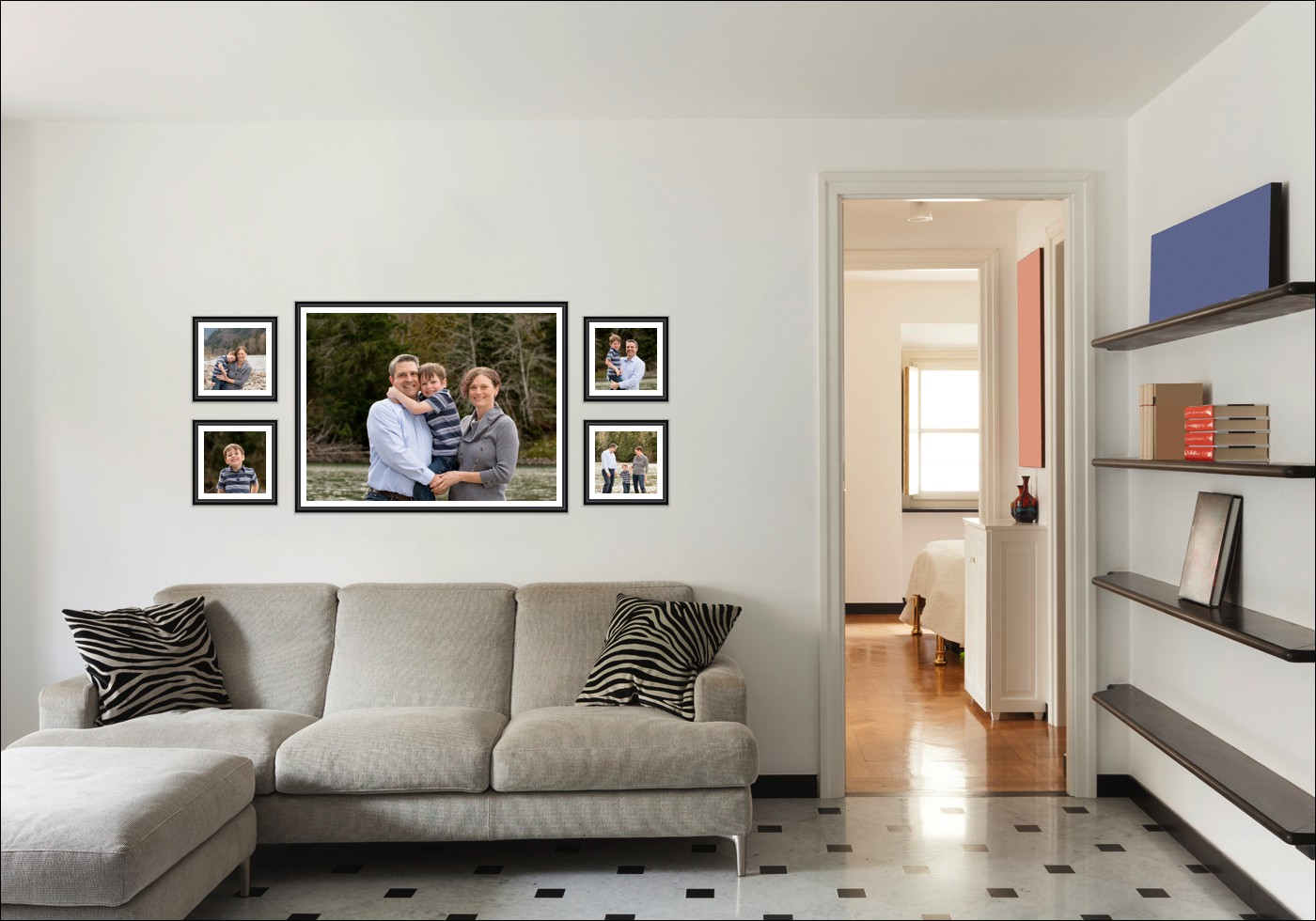 Wall Gallery Design by Trisha Radford Photography