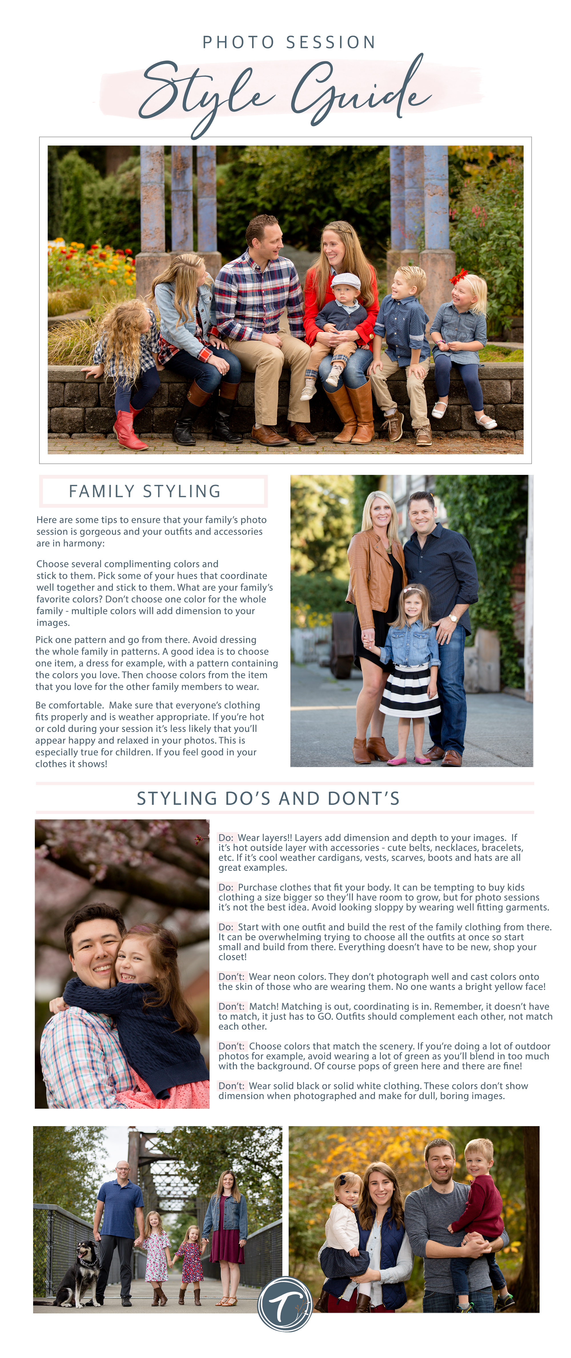 Family Photography Style Guide