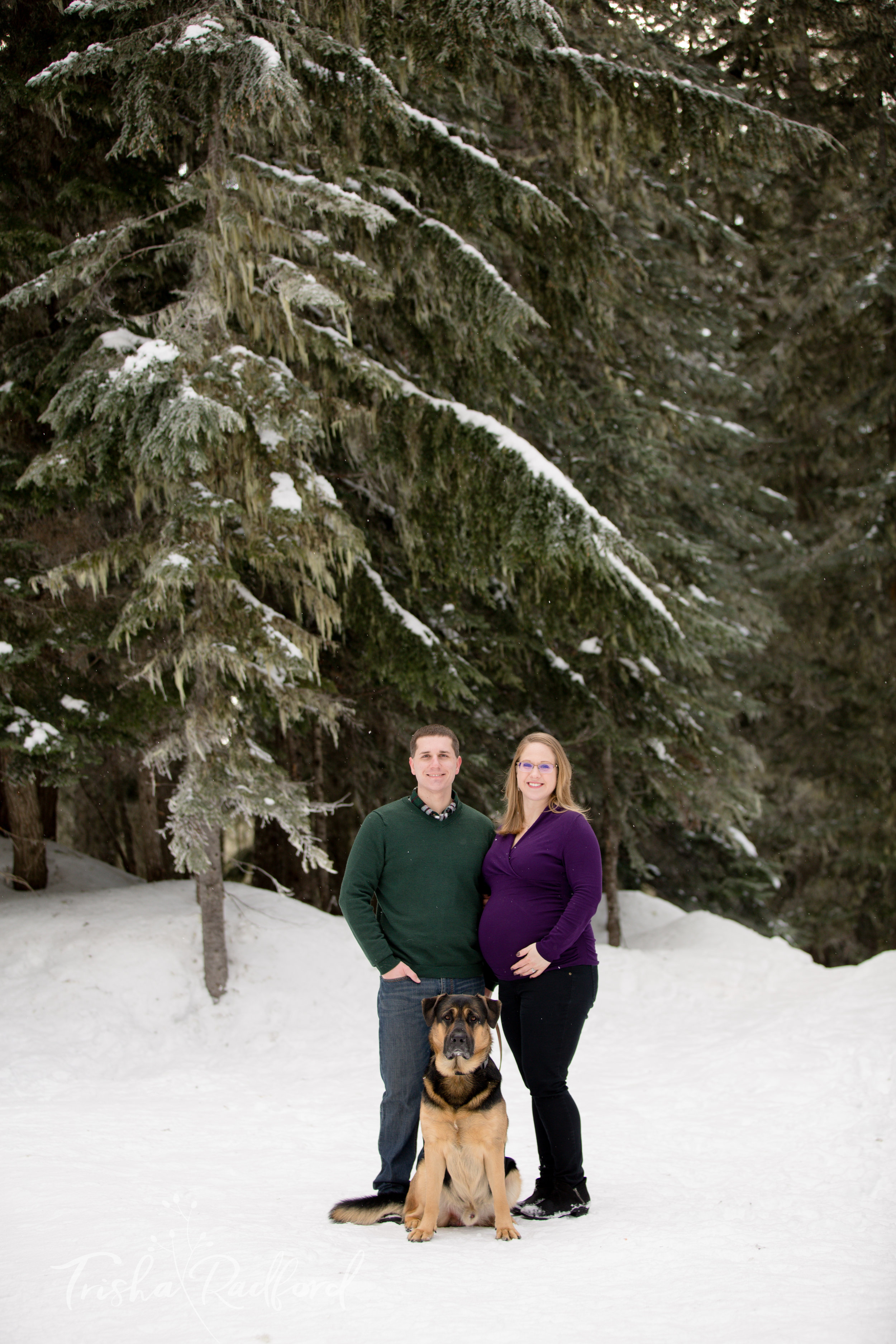 Maternity photoshoot at Stevens Pass by Trisha Radford Photography