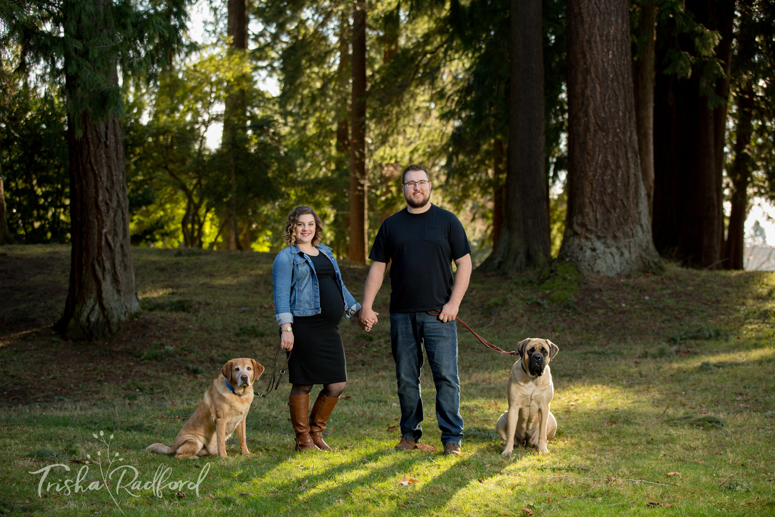 Maternity Photoshoot at Ferguson Park, Snohomish WA