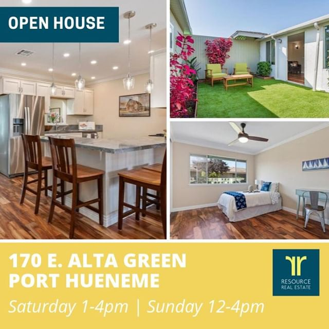 See you today at my Open House from 12-4 pm!! 🏡170 E. Alta Green in Port Hueneme is ✨NEW✨ to the market! ✔️2 Beds / 2 Baths / 1252 Sq Ft. This home has been lovingly updated with New Acacia Wood Floors, New Bathrooms, New Kitchen, Lots of new LED lighting, New Plumbing, New Sewer Lines, a Walk-in closet and more. Anyone can own this home, though at least one person living here needs to be 55+. This can be a turnkey rental or an affordable luxury home for retirement! Listed at $439,000. 📞 Jennifer Montoya, Realtor/Consultant (805) 844-8482 w/ Resource Real Estate, DRE #01967296