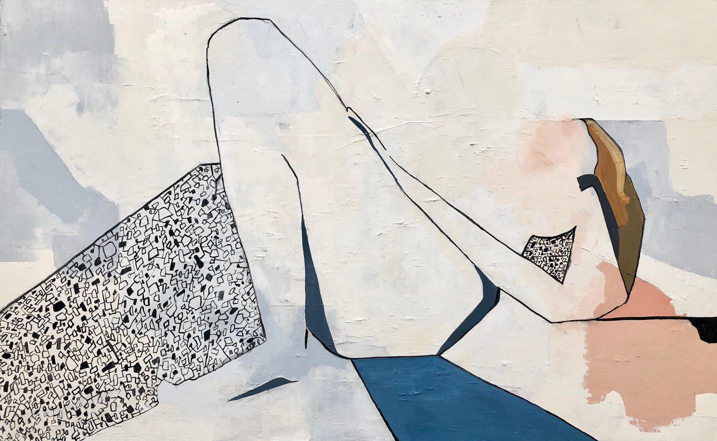 Femme,  oil on canvas, 2018, 30 x 38