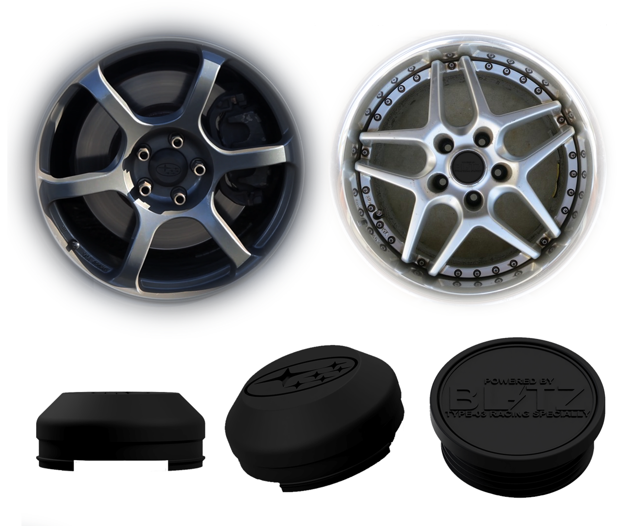 Custom 3D Printed Wheel Center Caps