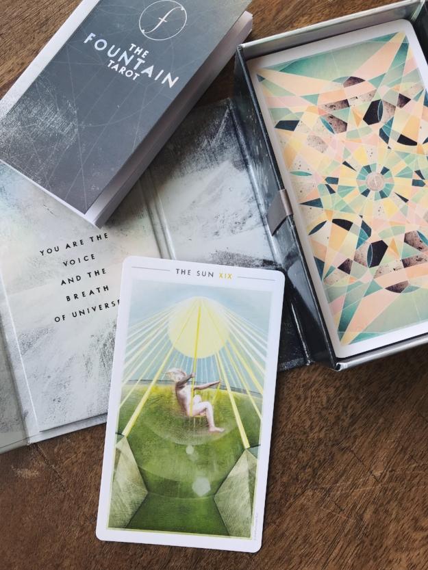 The Sun card from The Fountain Tarot