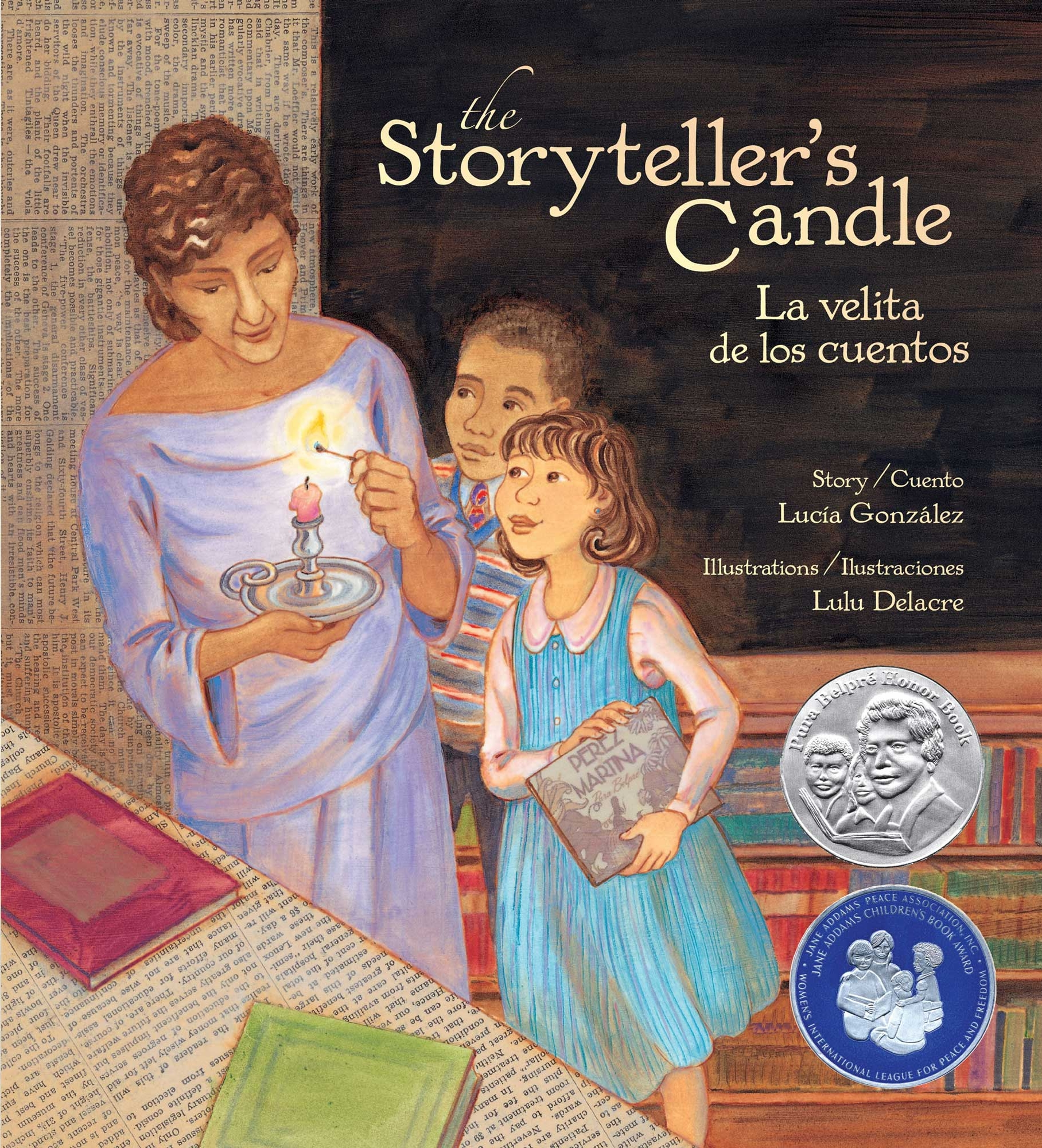 The storyteller's candle childrens book by lulu delacre