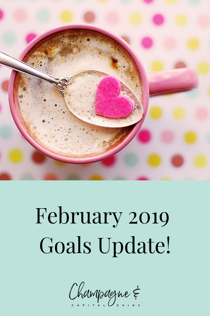 February 2019 goals candy coffee hearts confetti