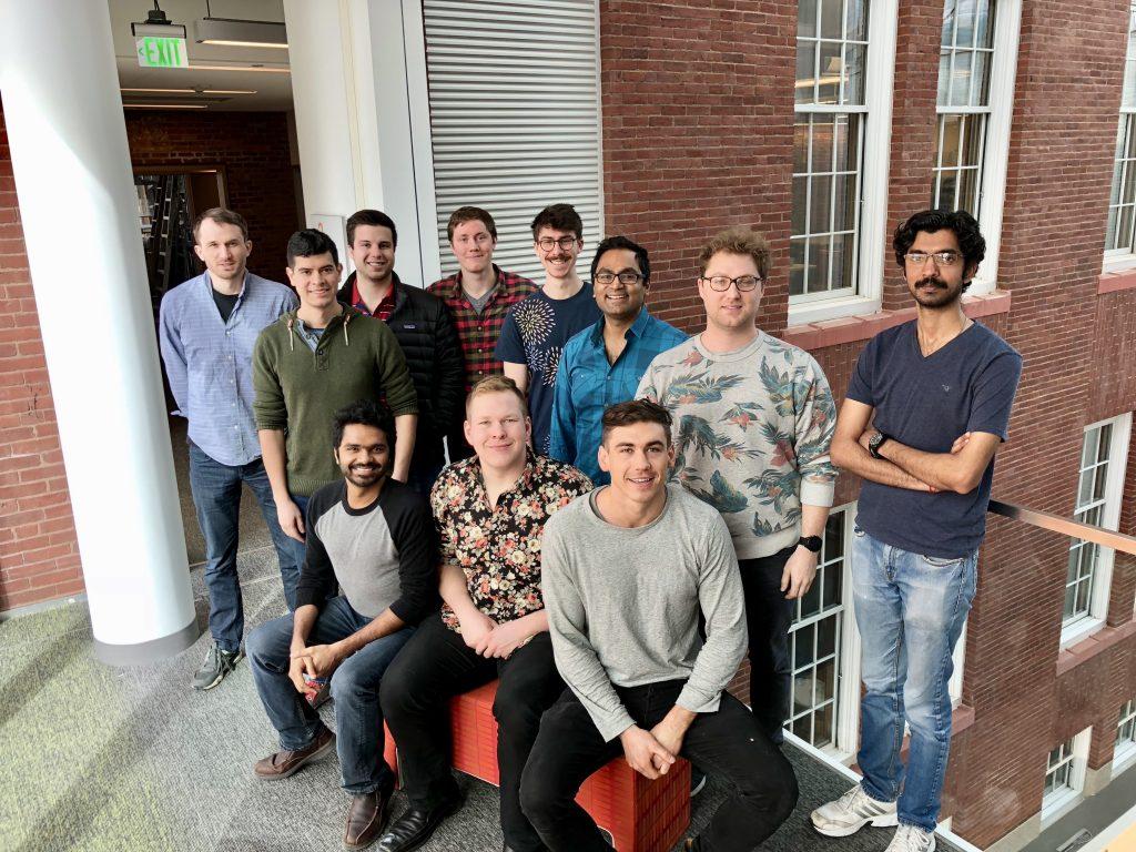 March 2018 group photo . (L-R)  Seated:  Venkatesh, Trevor, Joe.  Standing:  Todd, Bruno, Aaron, Sean, Brett, Prof. Nair, Zac, Vikas.