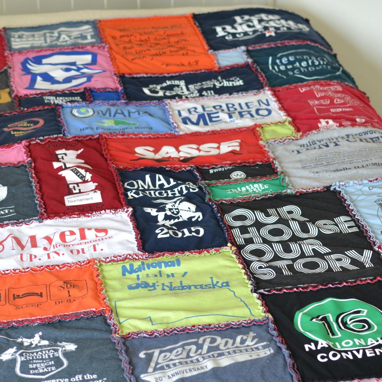 SUPER SHOW OFF Custom T-Shirt Blanket