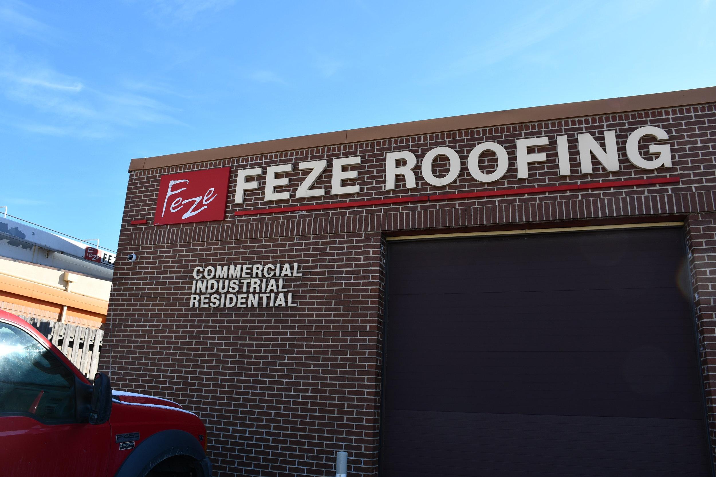 Feze Roofing Outside Showroom.JPG