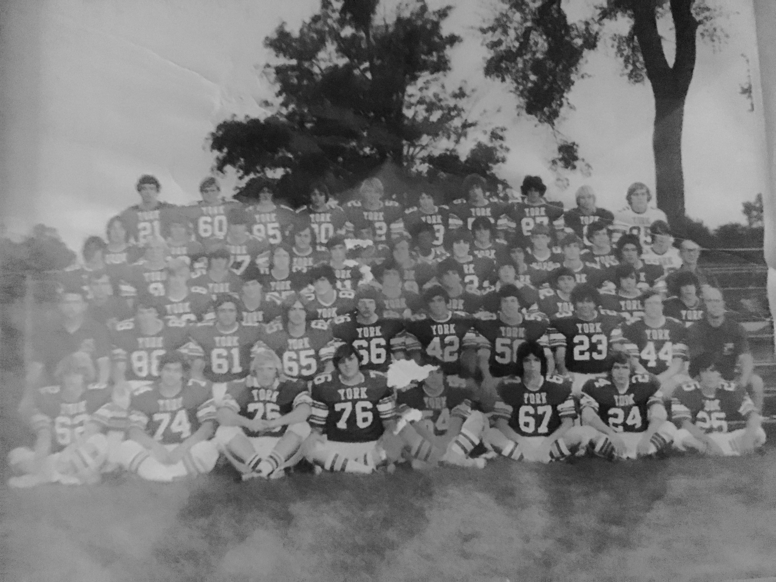 Feze Roofing Proudly Supports The York Dukes Football Program - Feze Roofing is proud to support the York Dukes Football Program for the 2018 season! Our founder, Joe Fese, Class of '77, played defense for the Dukes - see his 1975 season photo below!