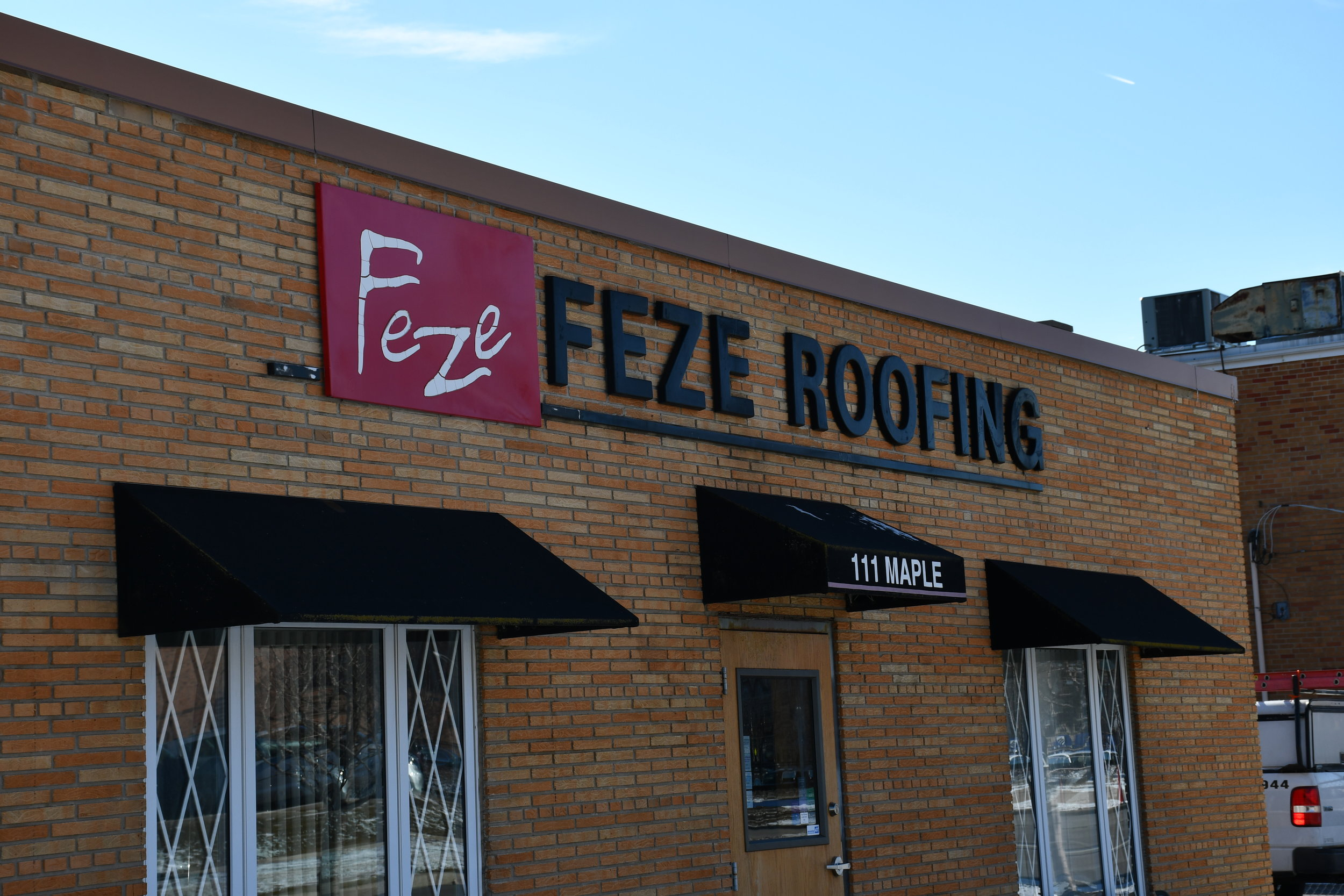 Step 2: Call Feze Roofing, Inc. © today to schedule your roof repair. -