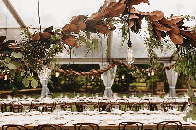 We are always on the lookout for decor inspiration and we thought this image was worth sharing of this beautifully natural set up at Upper Brookefield hall 😍🍃 Florals: @katedawesflowerdesign Furniture: @hamptoneventhire Photography: @storiesbyash  Styling: @theotherbridesmaid Lighting & hire: @avideas_  #clearmarquee #eventdecor #weddingstyling #marqueewedding