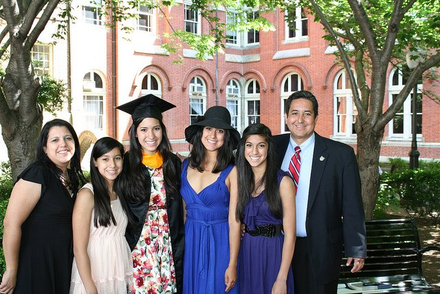 Georgetown graduation with my family