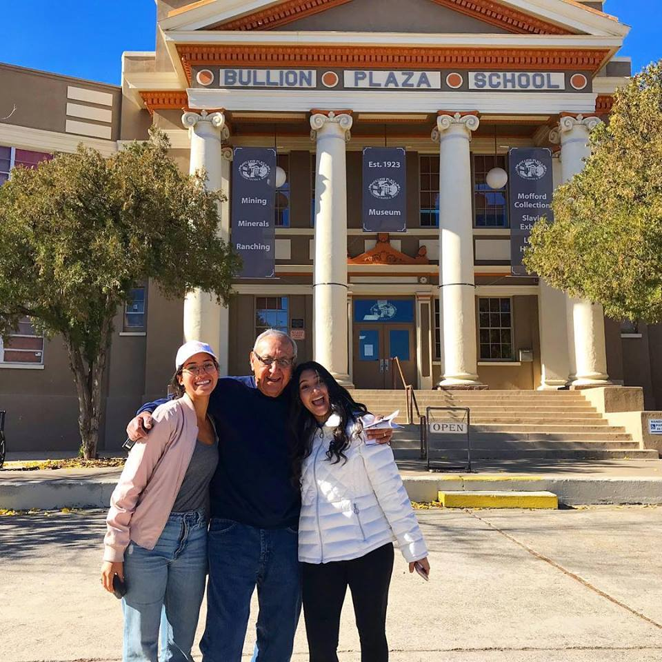 My sister and I with our Grandfather at his former (segregated) elementary school in Miami, AZ