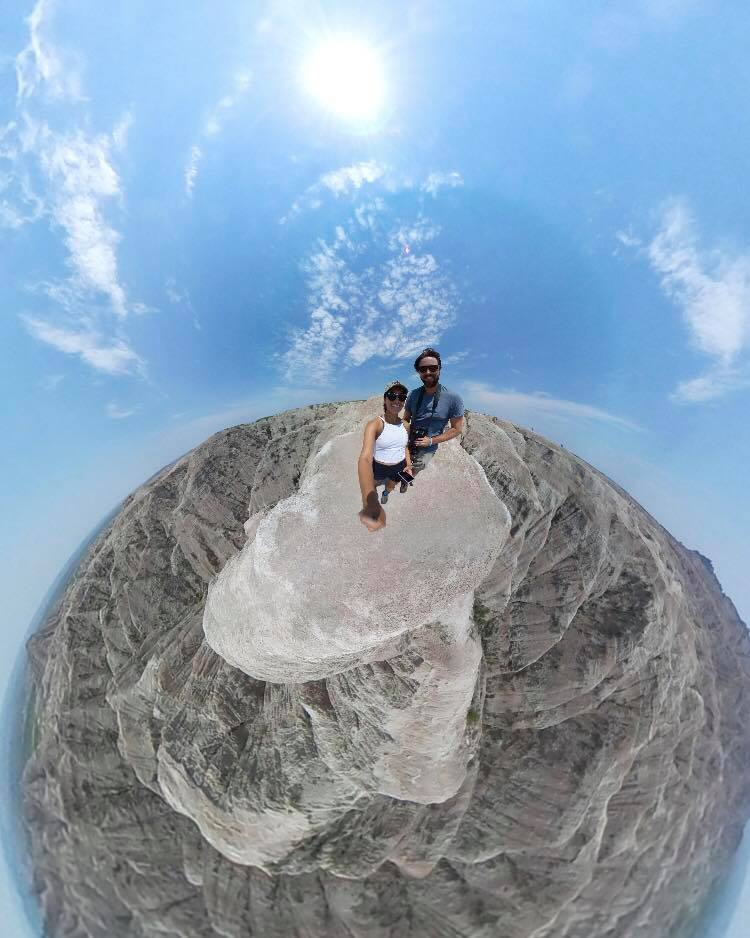 At the Badlands National Park during a 6 month road trip [360 VR photo]