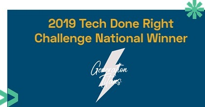 Amazing news! @gentitans was selected as one of ten social impact organizations across the US to receive a $100,000 grant through the @kaporcenter $1M Tech Done Right Challenge. We are excited to build a more diverse and inclusive tech economy. https://techdoneright.kaporcenter.org/winners/ #TDRchallenge