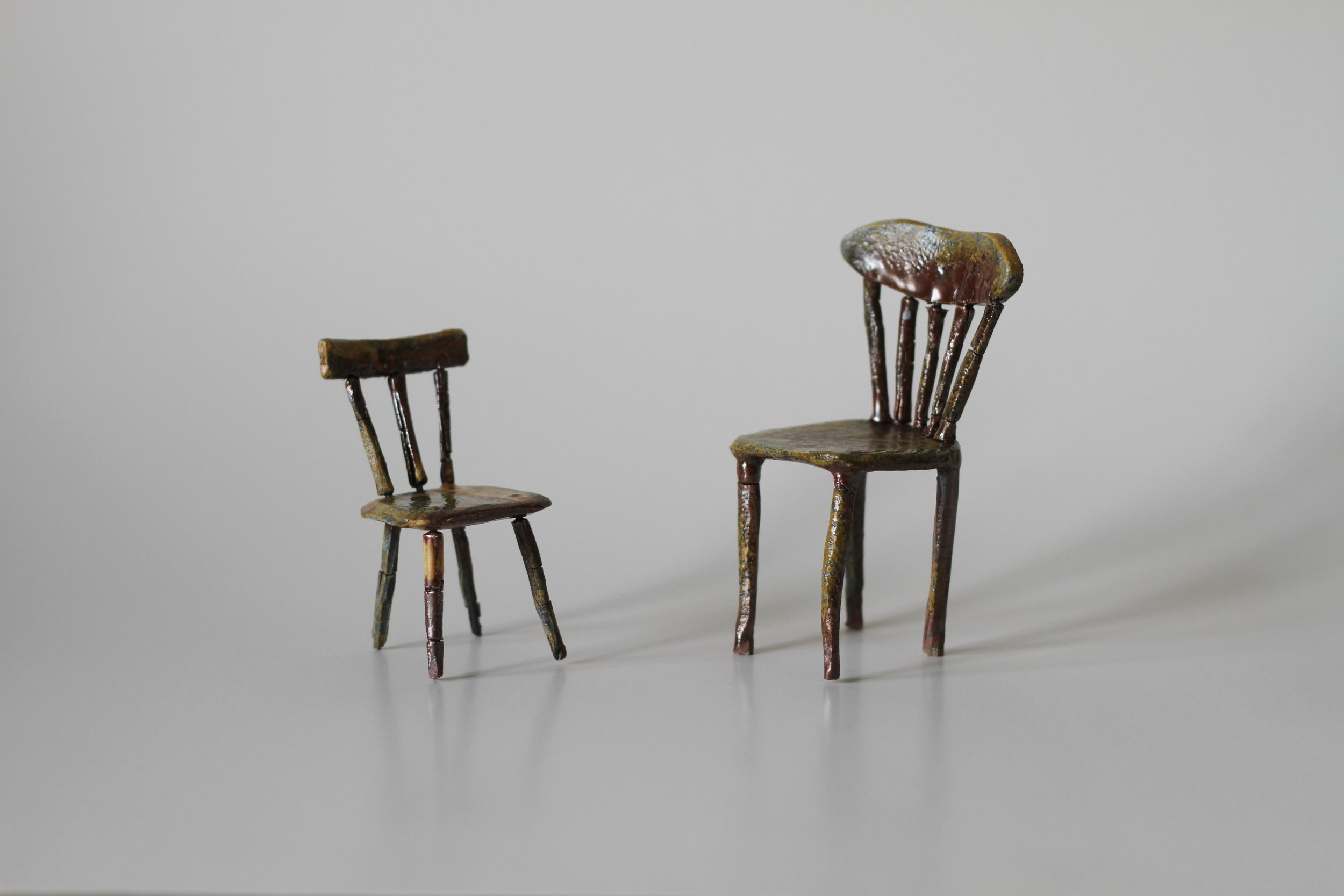 lonely chairs (woodfired)