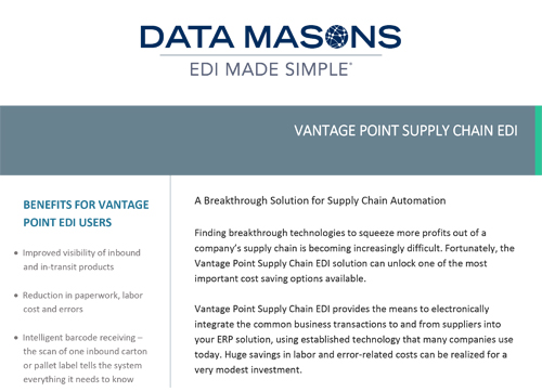 DATA MASON'S VANTAGE POINT EDI -
