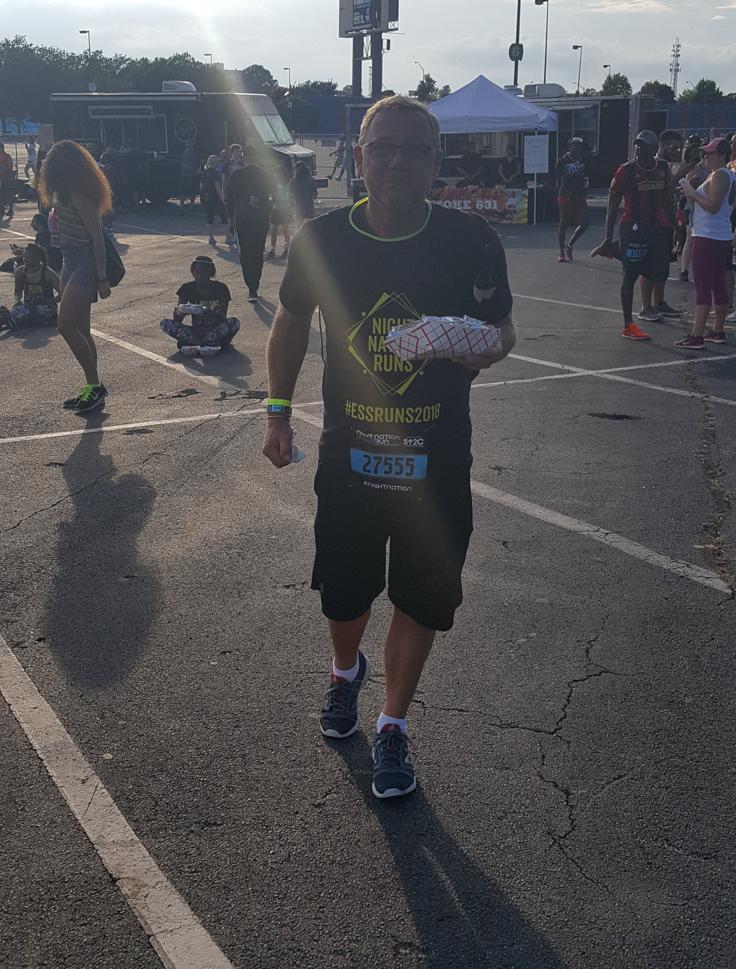 Tod is a foodie! Check him out running a 5K with barbeque in hand. #StandUp2Cancer #NightNationRunATL