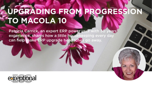 This article is jam-packed with advice and tips just in time for      spring spruce up your ERP processes. Check it out.