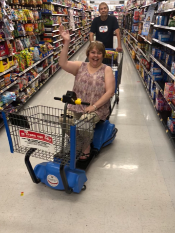 Tammy driving the cart is from a Walmart in Tennessee.