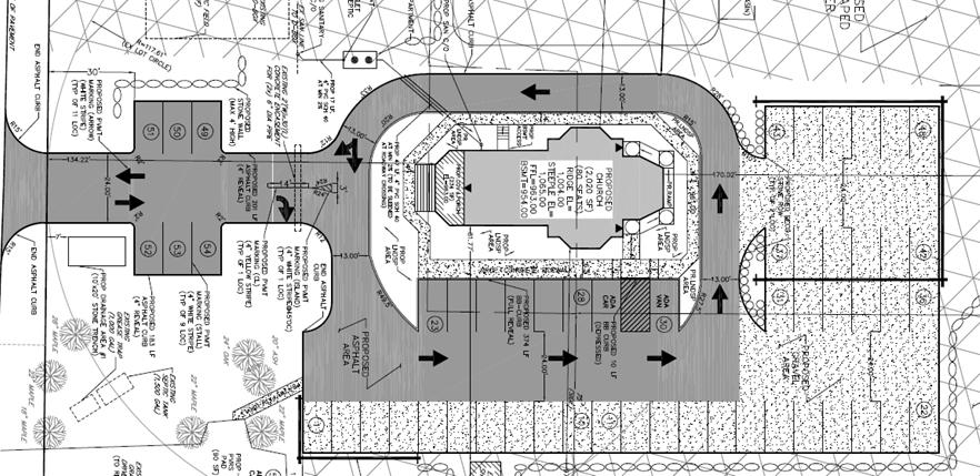 Proiectul arhitectural de amplasare a bisericii