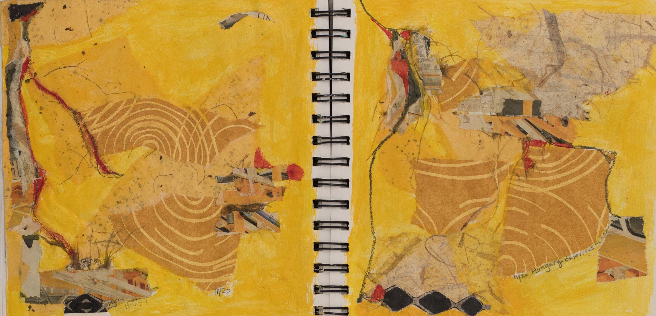 Delirium   Mixed Media on Paper  7 x 14 inches
