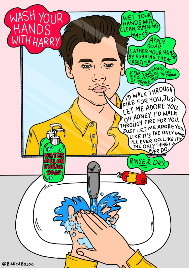 Wash Your Hands Posters Featuring Lizzo Harry Styles Dua Lipa And More Bianca Bosso Free wash your hands icons in wide variety of styles like line, solid, flat, colored outline, hand drawn and many more such styles. wash your hands posters featuring lizzo