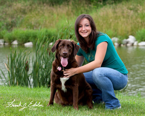 Photo Credit: Frank Ekeler Photography This was my senior year with my dog, Star. =] Wasn't she beautiful?!