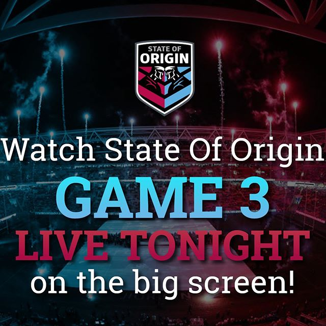 Watch State Of Origin Live on the big screen! Enjoy your favourite beers 🍻 and food whilst you enjoy all the action live. 👌#civichotel #stateoforigin #stateoforigin